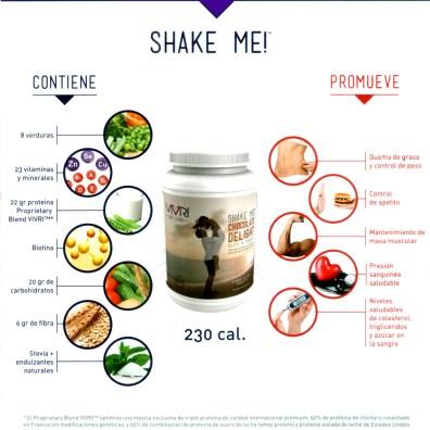 """El """"SHAKE ME"""" que es una malteada súper rica que puede suplir perfectamente a una comida completa, no es ni complemento, ni suplemento... ES UNA COMIDA COMPLETA."""