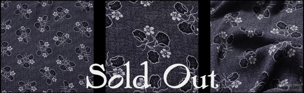 Black Edwardian Floral Silk - SOLD OUT