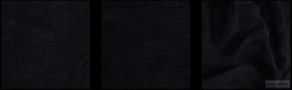 Black Washed Gauzy Linen