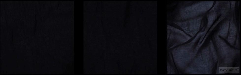 Black Wispy Silk Voile