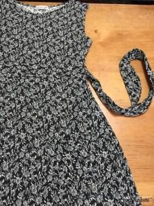 Ivey Abitz Dennison Frock in Onyx Floral Weave