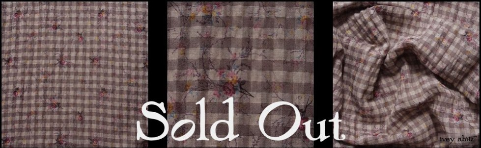 Earthen Gingham Sprig Cotton Gauze - SOLD OUT