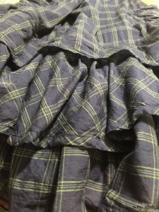 Everett Frock in Meadow Sea Plaid cotton voile by Ivey Abitz