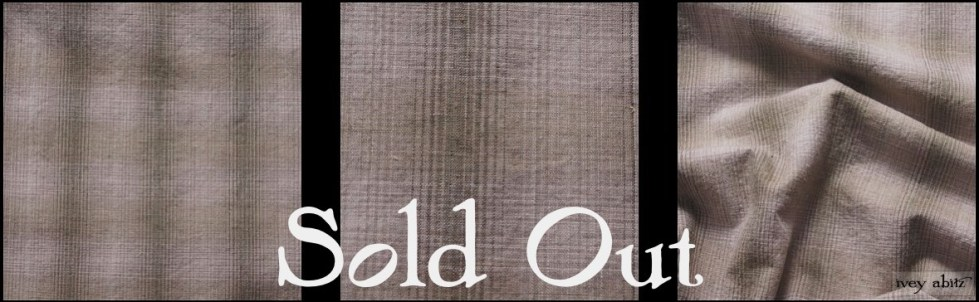 Garden Green Washed Plaid Linen - SOLD OUT