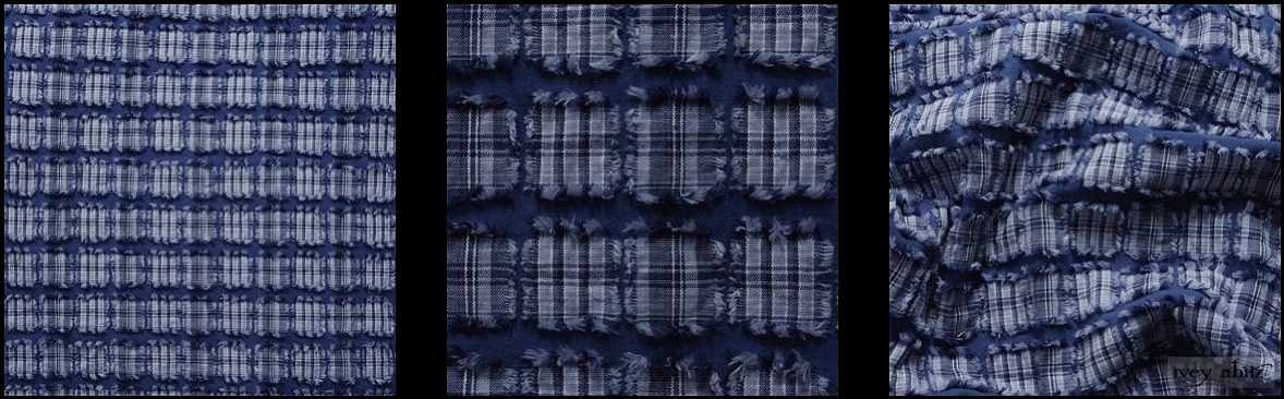Lake Tufted Plaid Voile from Ivey Abitz
