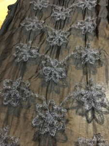 Ivey Abitz Limited Edition Wildefield Frock in Royal Embroidered Silk Organza