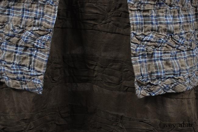 Look 13 - Spring 2018 Ivey Abitz Bespoke - Mewland Jacket in Veranda Blue Lightweight Linen Knit; Bartholomew Frock in Veranda Blue Wispy Plaid; Bertie Frock in Lawn Cotton Voile.