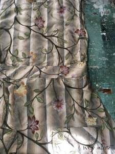 Dennison Frock in Original Plaster Embroidered Washed Silk by Ivey Abitz