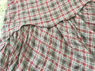 Heraldry Frock in Red Door Wispy Plaid by Ivey Abitz