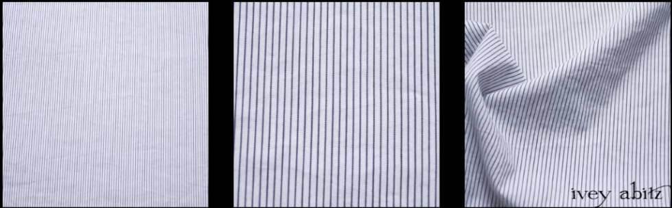Black and White Striped Cotton