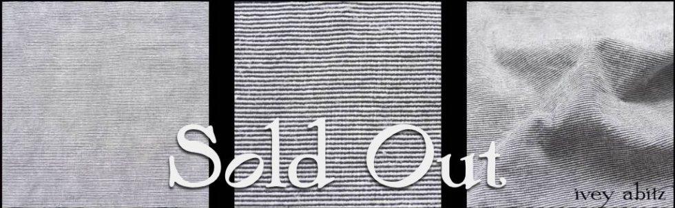 Black and White Striped Ponte Knit