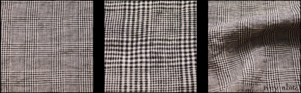 Chimney Washed Glen Plaid Linen