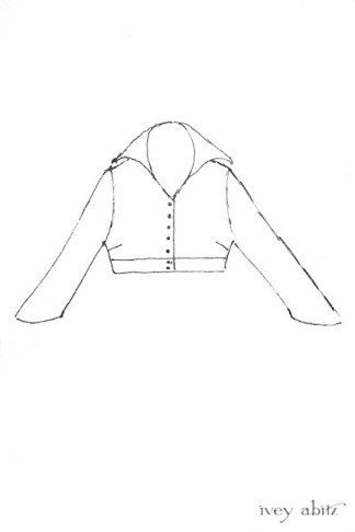 Eugenia Jacket Drawing by Ivey Abitz