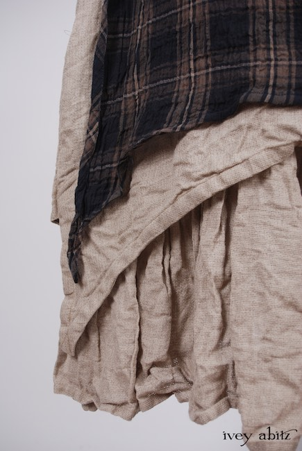 Dennison Dress in Lakeland Plaid Cotton Voile; Blanchefleur Frock in Natural Old World Linen