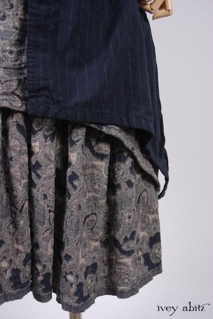 Elsie Duster Coat in Lakeland Striped Weave; Limited Edition Blanchefleur Frock in Lakeland Floral Weave