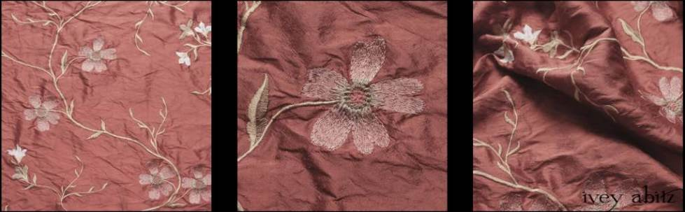 Rising Sun Embroidered Washed Silk