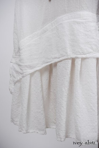 Blanchefleur Dress in Dove Striped Voile - Size Small/Medium