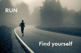 run-find-yourself-inspirational-quote