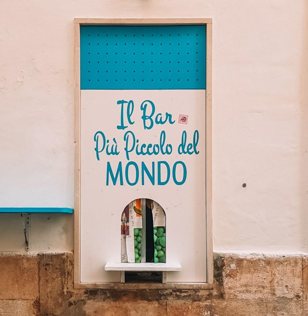 Bar più piccolo del mondo Martina Franca