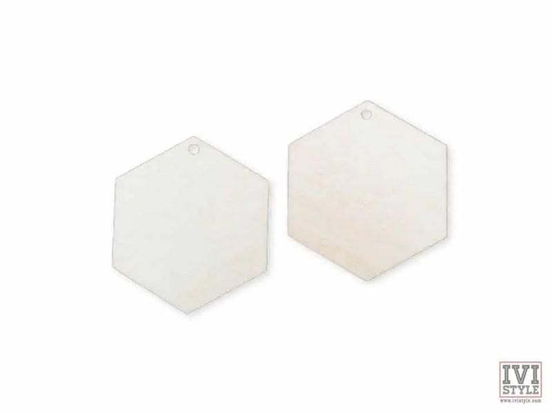 blank cercei lemn hexagon