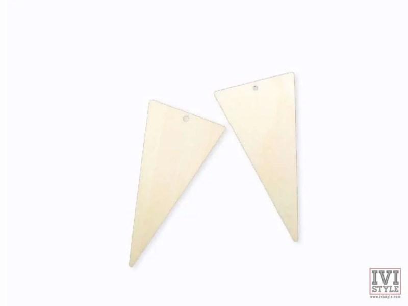blank cercei lemn triunghi