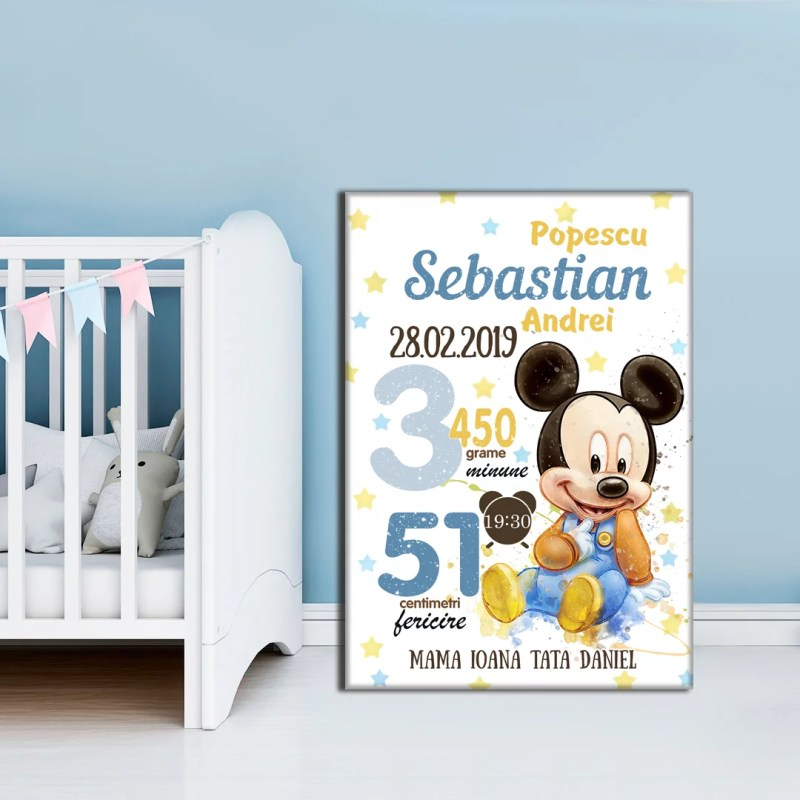Tablou Canvas Personalizat Mickey 02