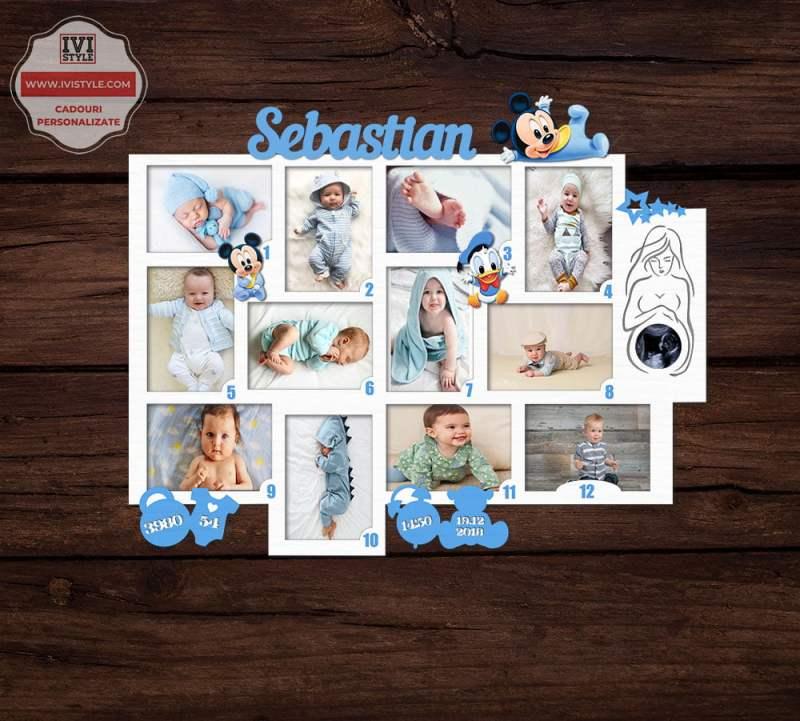 Rama Foto Personalizata Mickey si Donald 12 Luni