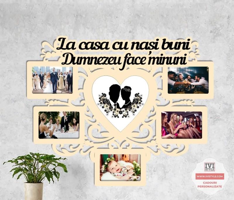 Rama Foto Personalizata La casa cu nasi buni Dumnezeu face minuni 03