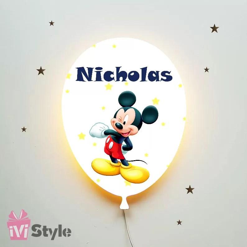 Lampa Personalizata LED Balon Mickey Mouse Nicholas