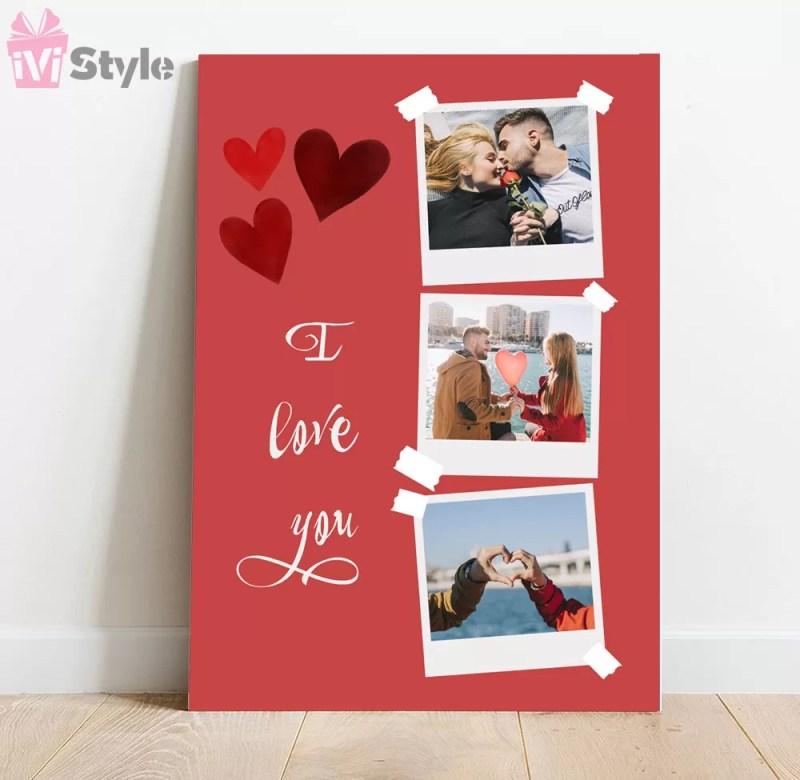 tablou personalizat i love you cu poze