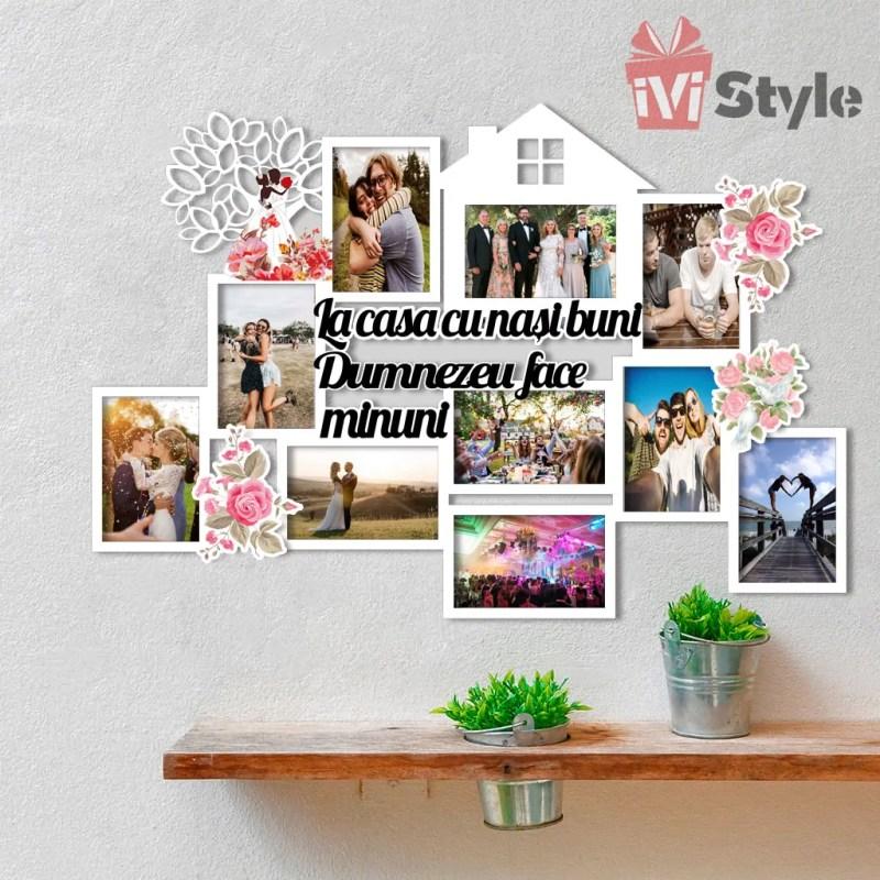 Rama Foto La Casa cu Nasi Buni Personalizata Casuta si Copacel