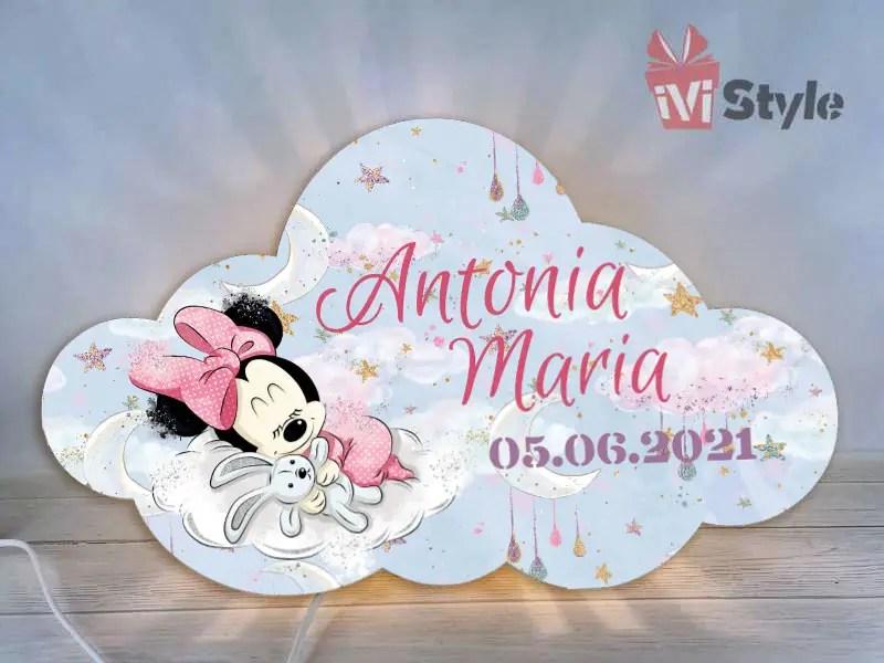 Lampa de veghe personalizata norisor Minnie Mouse 01