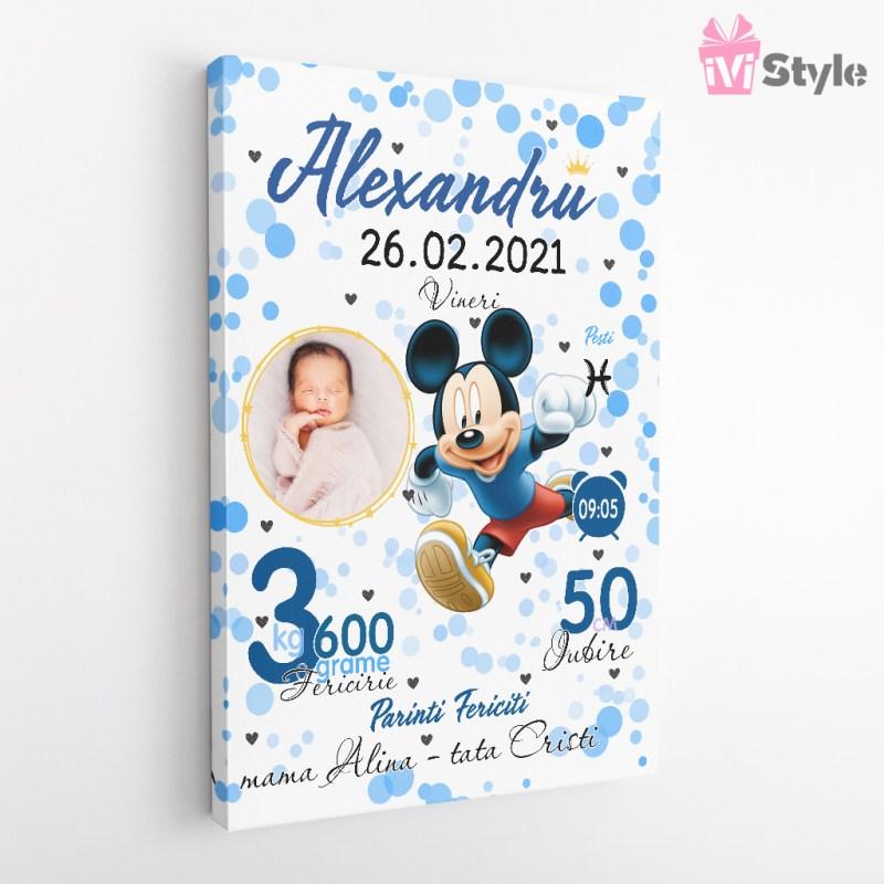 Tablou Personalizat Mickey Mouse Albastru Alexandru V2