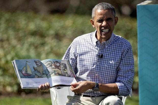 Obama lee un cuento