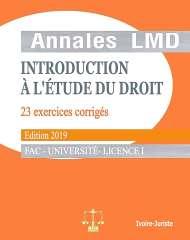 Annales d'introduction à l'étude du droit