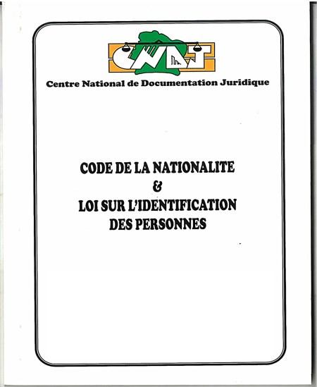 Code de la Nationalité et Identification des personnes
