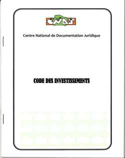 Code des investissements