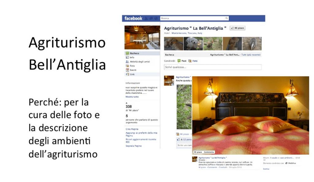 Caso studio strutture Maremma, Facebook
