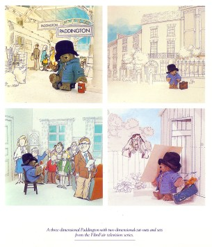 Paddington Bear TV series Image taken from book Life and Times of Paddington Bear, 1988