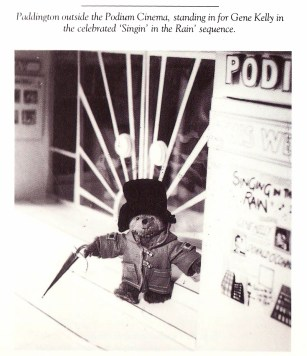 Paddington Goes to the Movies Image taken from book Life and Times of Paddington Bear, 1988