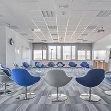 Oficinas FIDAMC, gestión del espacio, Interiorismo de oficinas, Ivory