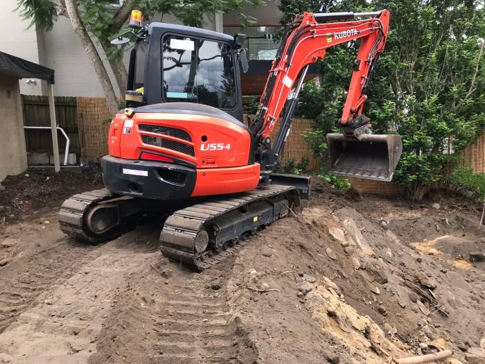 Work in progress on Cremorne garden transformation