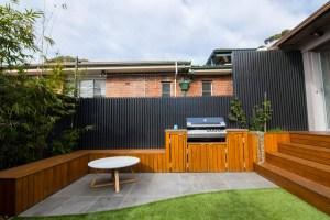 BBQ builtin in Waverley Kid Friendly entertainers garden