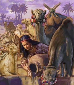 רבקה משקה את הגמלים