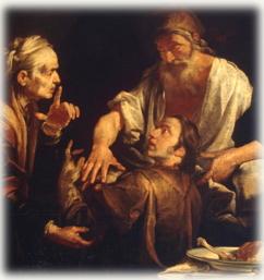 יעקב מרמה את יצחק, בהנחיית רבקה
