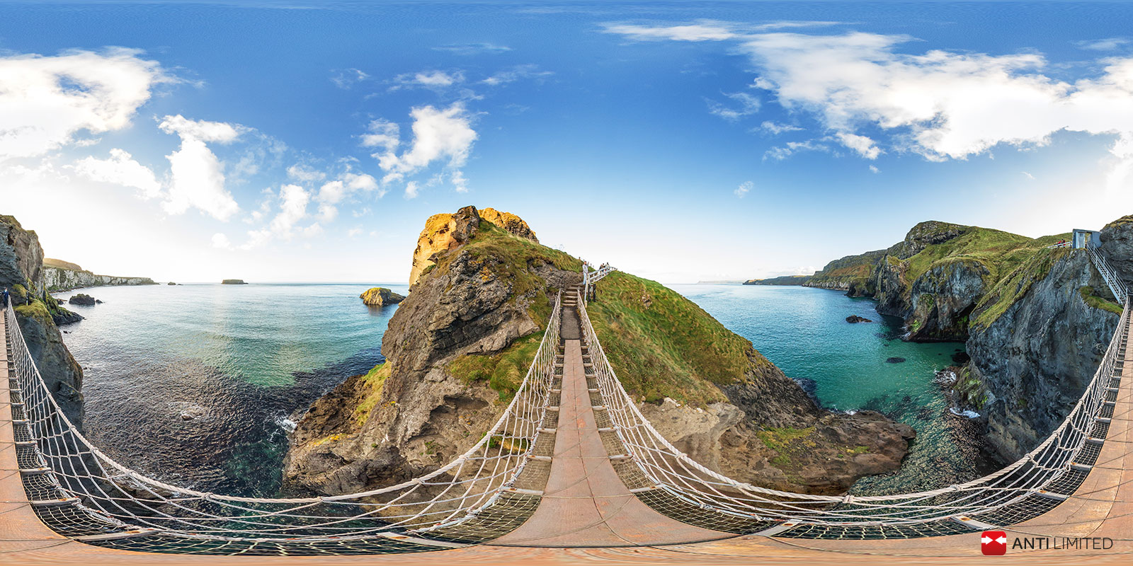 Pano Carrick A Rede Ropebridge For Ivrpa