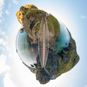 Little planet of ropebridge