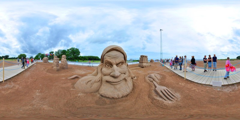 Sandskulpturfestivalen Kalmar 2015