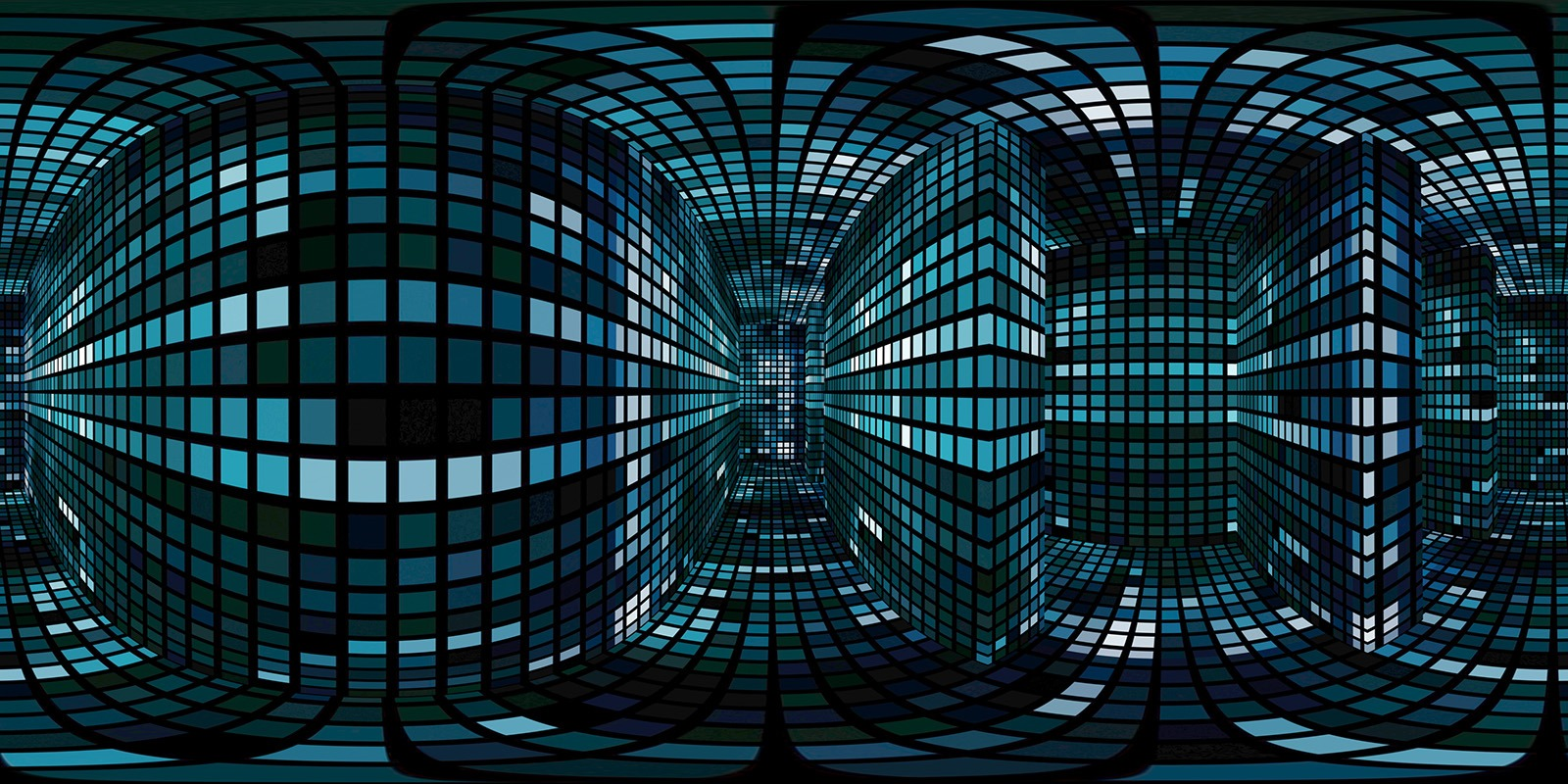 360 VR Maze 001 Stock Video
