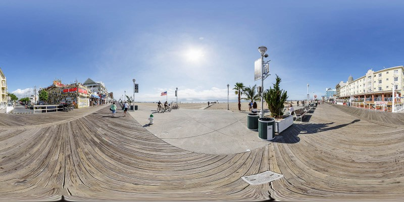 Ocean City Boardwalk Panorama